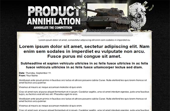 Product Annihilation HTML PSD Template