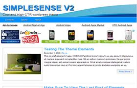 Simple Sense V2 WP Theme