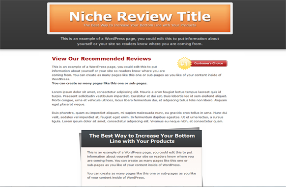 Single Review HTML PSD Template Edition 2