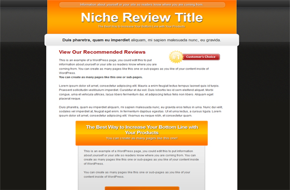 Single Review HTML PSD Template Edition 4