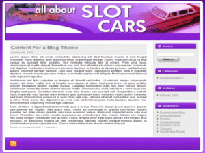 Slot Cars Web Template and WP Theme