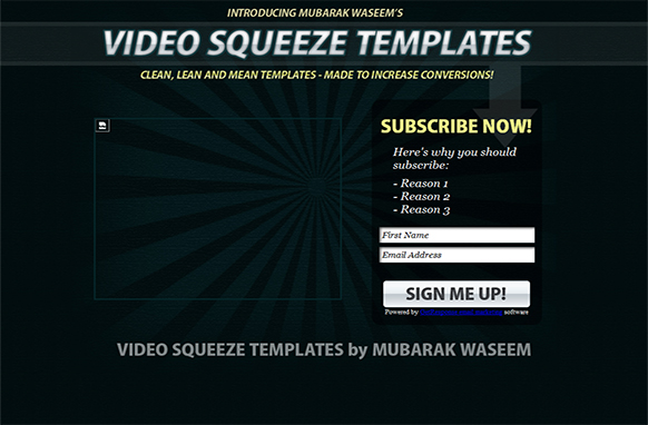 Smoking Hot Video Squeeze HTML PSD Template Design 5