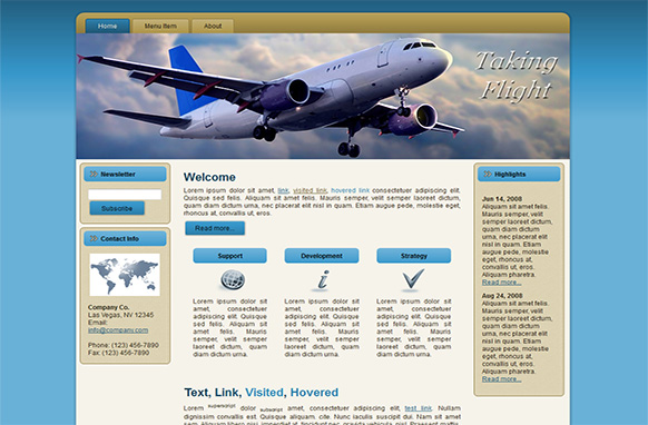 Taking Flight Blogger HTML WP Template