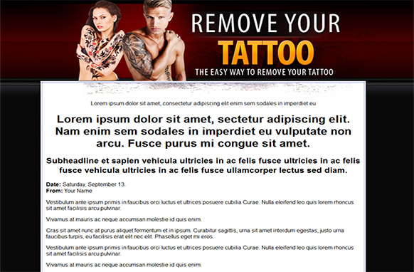 Tattoo Removal HTML PSD Template