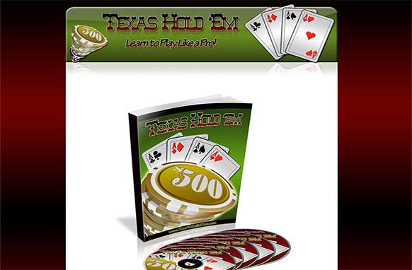 Texas HoldEm HTML PSD Ebook Minisite