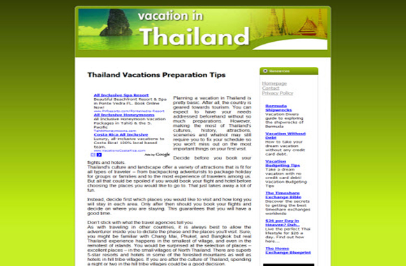 Thailand  Vacations Web Template and WP Theme