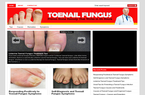 Toe Nail Fungus Niche WordPress Theme