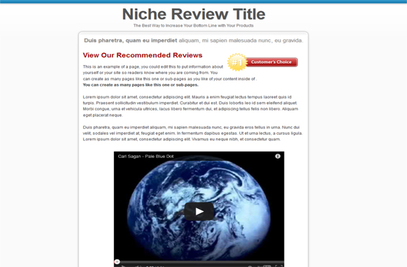 Video Review HTML Template Edition 2