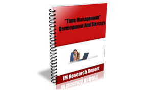Time Management Development and Strategy