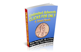 Unlimited Google AdWords Click For Only 1 Cent Each