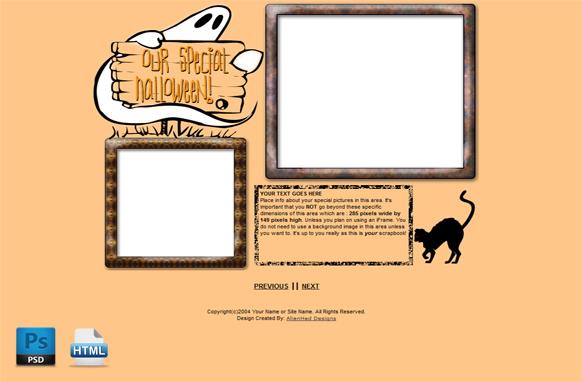 Halloween HTML PSD Template