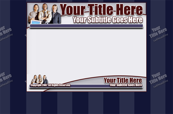 HTML PSD Minisite Blue Template