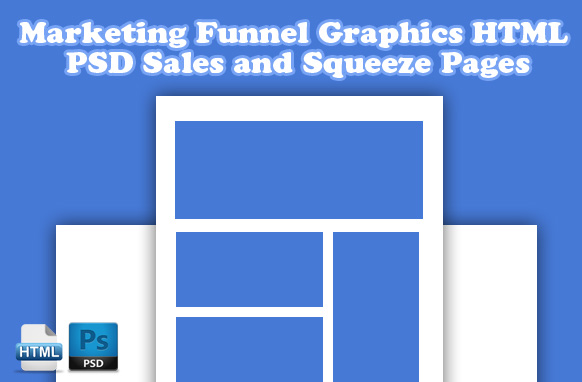 Marketing Funnel Graphics HTML PSD Sales and Squeeze Pages