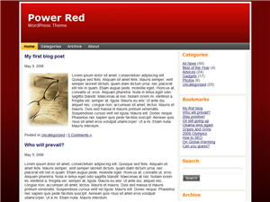 Power Red WP Theme Edition 2