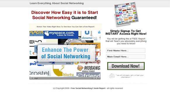Social Networking HTML Video Squeeze Page