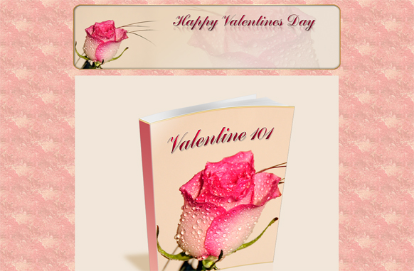 Valentines 101 Minisite HTML PSD Template