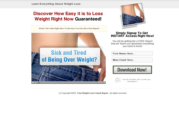 Weight Loss HTML Video Squeeze Page