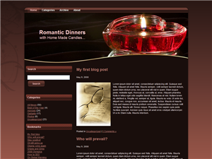 All About Candles WP Theme