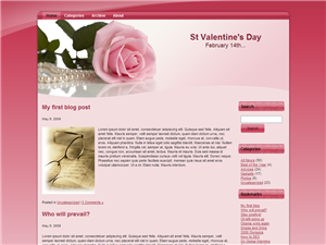 All About Pink Rose WP Theme