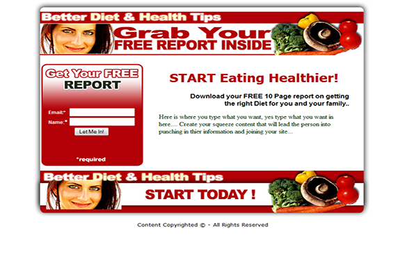 Better Diet and Health HTML PSD Templates