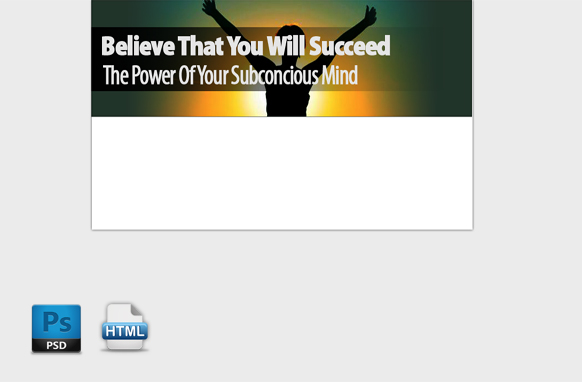 Believe You That You Will Succeed HTML PSD Template