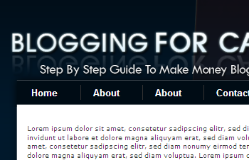 Cash Blogging WP Theme and PSD