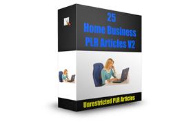 25 Home Business PLR Articles V2