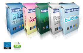 6 PSD PNG Facebook Banners