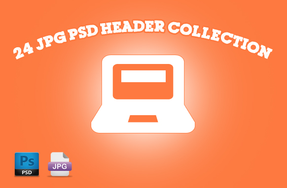 24 JPG PSD Header Collection