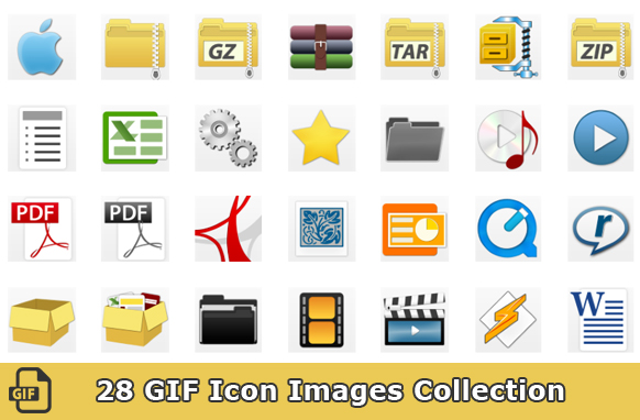 28 GIF Icon Images Collection