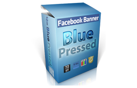Facebook Banners PSD PNG Blue Pressed