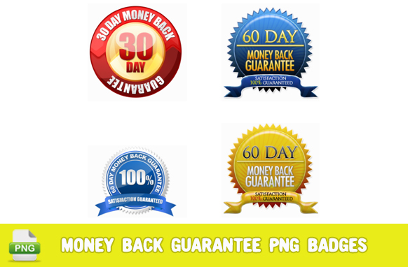 Money Back Guarantee PNG Badges