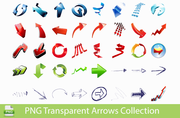 PNG Transparent Arrows Collection