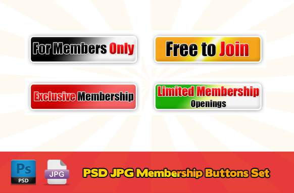 PSD JPG Membership Buttons Set