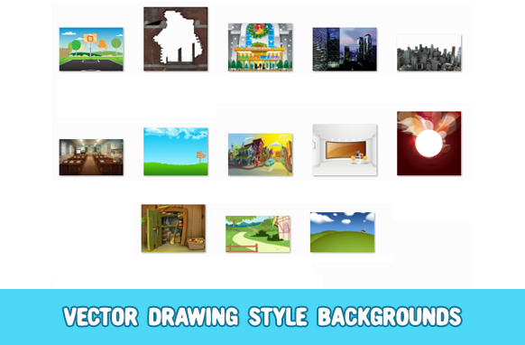 Vector Drawing Style Backgrounds