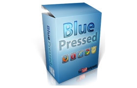 YouTube PSD PNG Backgrounds Blue Pressed