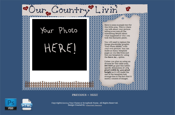 Country Livin HTML PSD Template