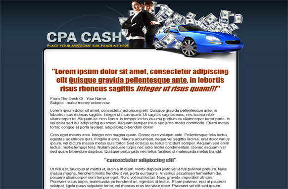 CPA Money HTML PSD Sale Page Templates
