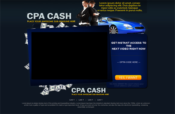CPA Money HTML PSD Video Squeeze Page