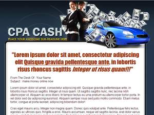 CPA Money WP PSD Theme