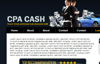 CPA Money WP Theme and PSD