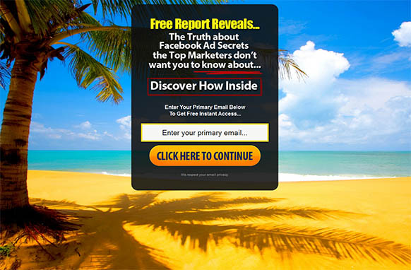 FB Ad Secrets Funnel HTML Squeeze Page Edition 1