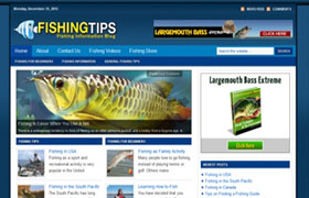 Fishing WP Niche Theme
