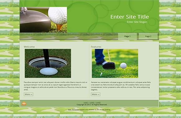 Golfing WordPress Theme and HTML Template