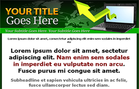 Green Minisite HTML PSD Template