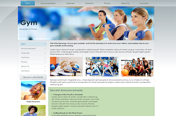 Gym Fitness HTML Templates and WP Theme
