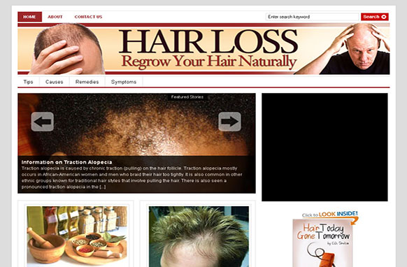Hair Loss WP Theme Niche Blog