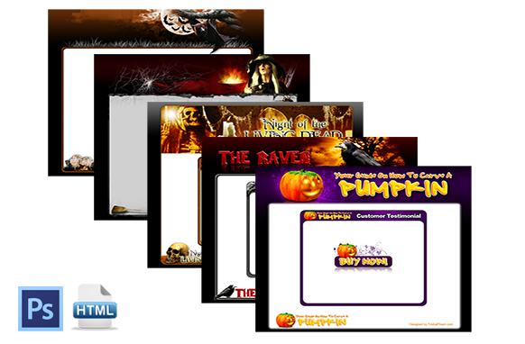 Halloween HTML Web Template Collection