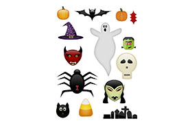 Halloween JPG PNG PSD Graphics  Collection