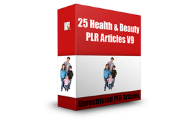 25 Health and Beauty PLR Articles V9